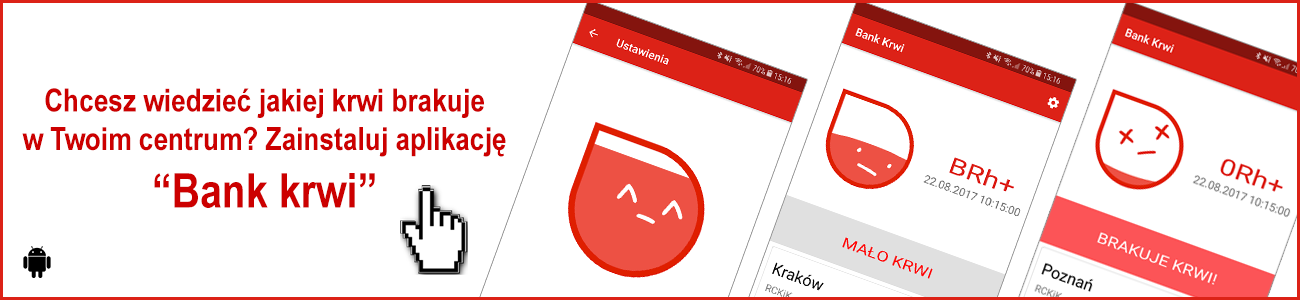 Aplikacja Bank krwi Android