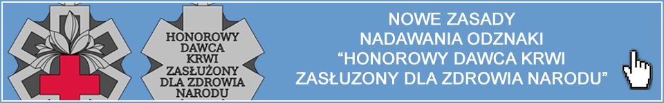 Odznaka Honorowy Dawca Krwi- Zasłużony dla Zdrowia Narodu