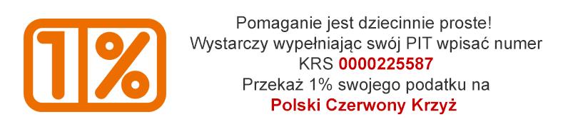 Przekaż 1% podatku na PCK
