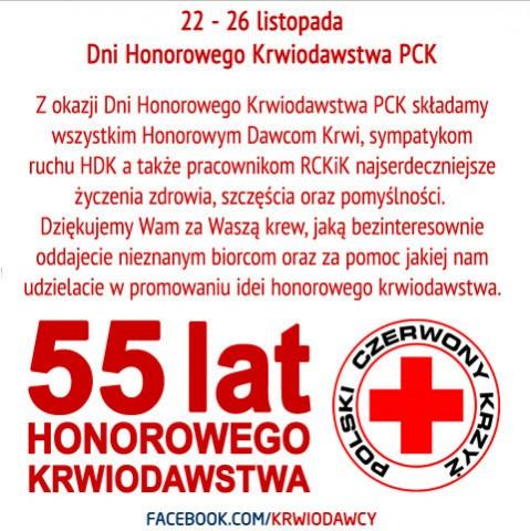 Życzenia od krwiodawcy.org oraz PCK