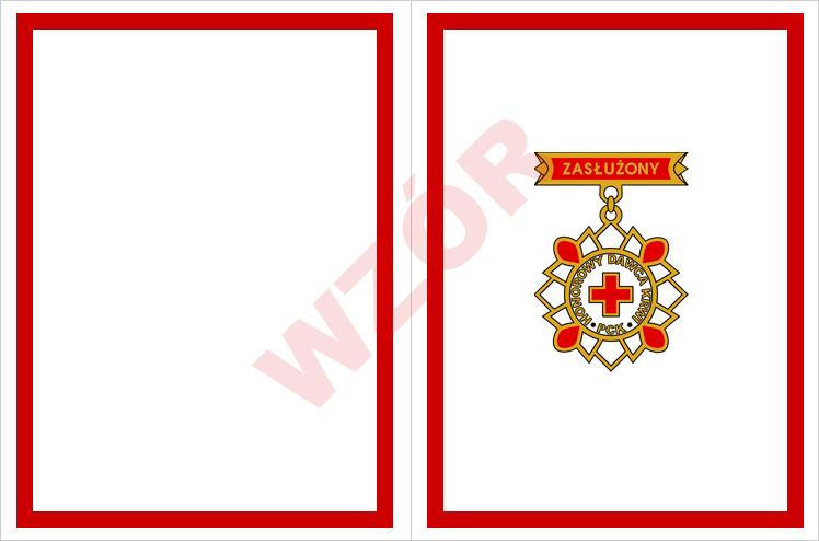 Wkładka legitymacji Zasłużony Honorowy Dawca Krwi II stopnia