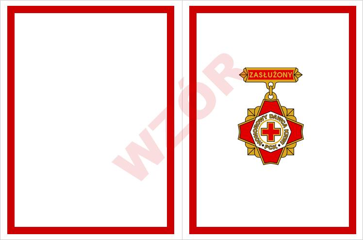Wkładka legitymacji Zasłużony Honorowy Dawca Krwi III stopnia