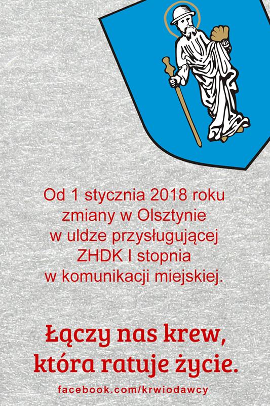 Zmiana w komunikacji miejskiej w Olsztynie.